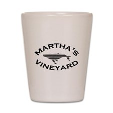 Martha's Vineyard MA - Whale Design. Shot Glass