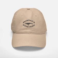 Martha's Vineyard MA - Whale Design. Baseball Baseball Cap