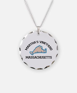Martha's Vineyard MA - Map Design. Necklace