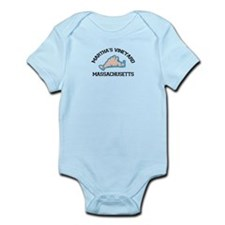 Martha's Vineyard MA - Map Design. Infant Bodysuit