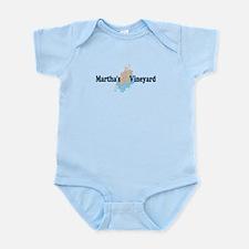 Martha's Vineyard MA - Seashells Design. Infant Bo