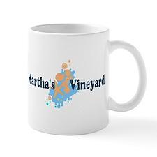 Martha's Vineyard MA - Seashells Design. Mug
