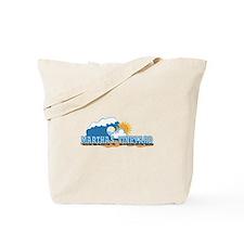 Martha's Vineyard MA - Waves Design. Tote Bag