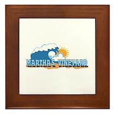 Martha's Vineyard MA - Waves Design. Framed Tile