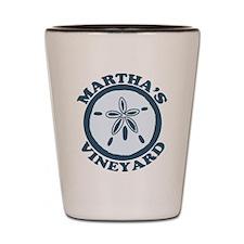 Martha's Vineyard MA - Sand Dollar Design. Shot Gl