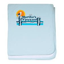 Martha's Vineyard MA - Pier Design. baby blanket