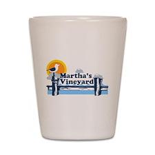 Martha's Vineyard MA - Pier Design. Shot Glass