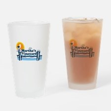Martha's Vineyard MA - Pier Design. Drinking Glass