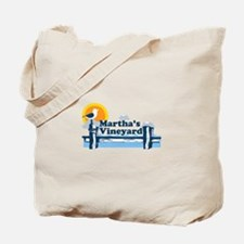 Martha's Vineyard MA - Pier Design. Tote Bag