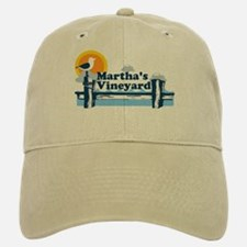 Martha's Vineyard MA - Pier Design. Baseball Baseball Cap