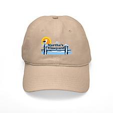 Martha's Vineyard MA - Pier Design. Baseball Cap