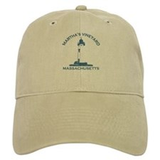 Martha's Vineyard MA - Lighthouse Design. Baseball Cap