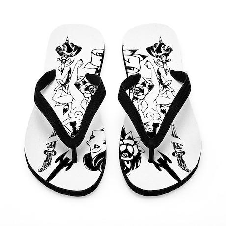 VINTAGE TATTOO Flip Flops