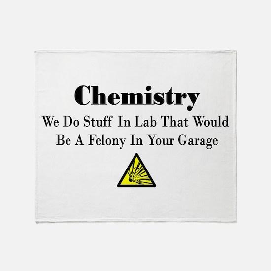 Funny Chemistry Throw Blanket