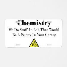 Unique Chemistry funny Aluminum License Plate