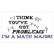 Funny Math Major Poster Poster
