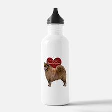 Cute Finnish lapphunds Water Bottle