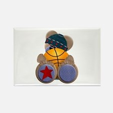 Basketball TeddyBear Rectangle Magnet