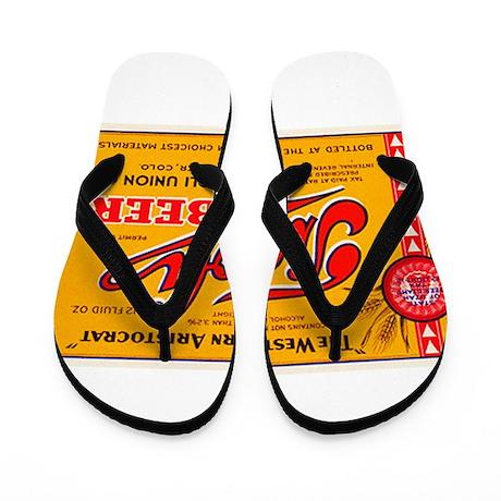 Colorado Beer Label 4 Flip Flops