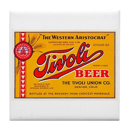 Colorado Beer Label 4 Tile Coaster