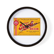 Colorado Beer Label 4 Wall Clock