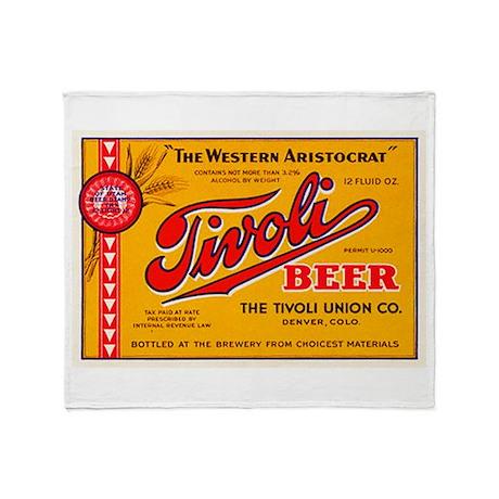 Colorado Beer Label 4 Throw Blanket