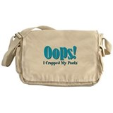 With oops i crapped my Messenger Bag