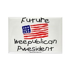 Future Weepublican Pwesident Rectangle Magnet
