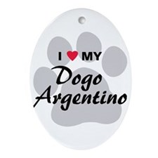 Dogo Argentino Ornament (Oval)