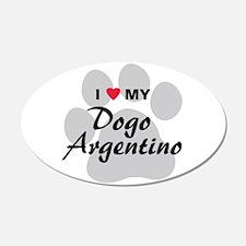 Dogo Argentino 22x14 Oval Wall Peel
