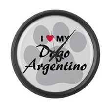Dogo Argentino Large Wall Clock