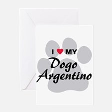 Dogo Argentino Greeting Card