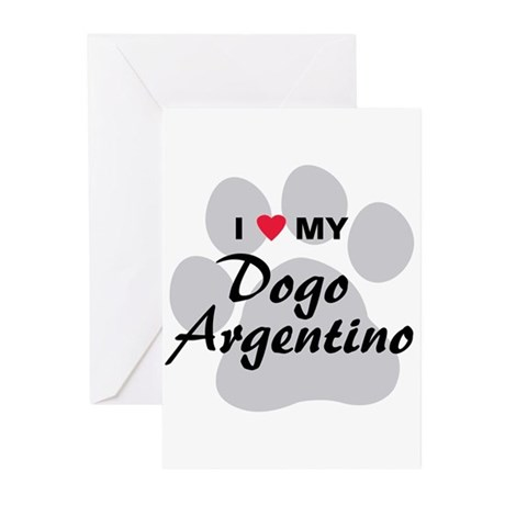 Dogo Argentino Greeting Cards (Pk of 10)