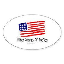 United States of America Oval Decal