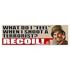 "Soldiers ""Feel"" Recoil Bumper Car Sticker"