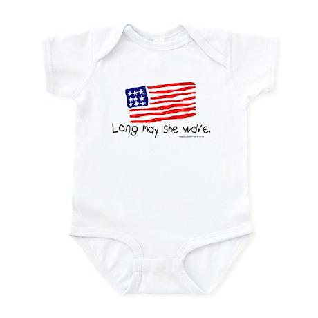 Long May She Wave Infant Creeper