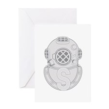 Salvage Diver Greeting Card