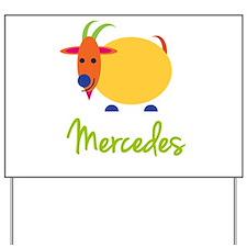 Mercedes The Capricorn Goat Yard Sign