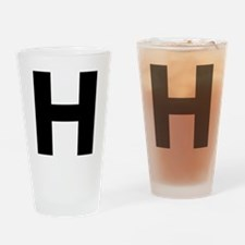 Letter H Drinking Glass