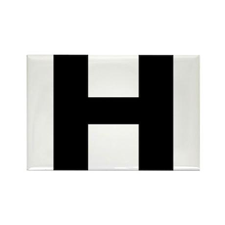 Letter H Rectangle Magnet (100 pack)