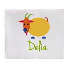 Delia The Capricorn Goat Throw Blanket