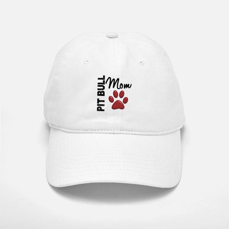 Pit Bull Mom 2 Baseball Baseball Cap