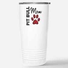 Pit Bull Mom 2 Stainless Steel Travel Mug