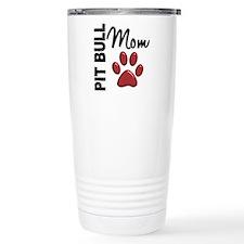 Pit Bull Mom 2 Travel Coffee Mug