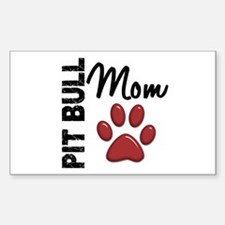Pit Bull Mom 2 Decal