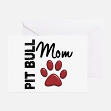 Pit Bull Mom 2 Greeting Cards (Pk of 10)