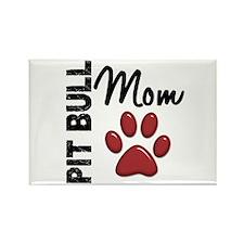 Pit Bull Mom 2 Rectangle Magnet (100 pack)