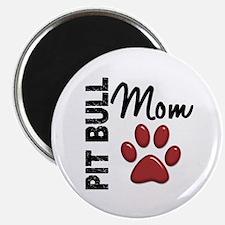 """Pit Bull Mom 2 2.25"""" Magnet (100 pack)"""