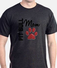 Pit Bull Mom 2 T-Shirt