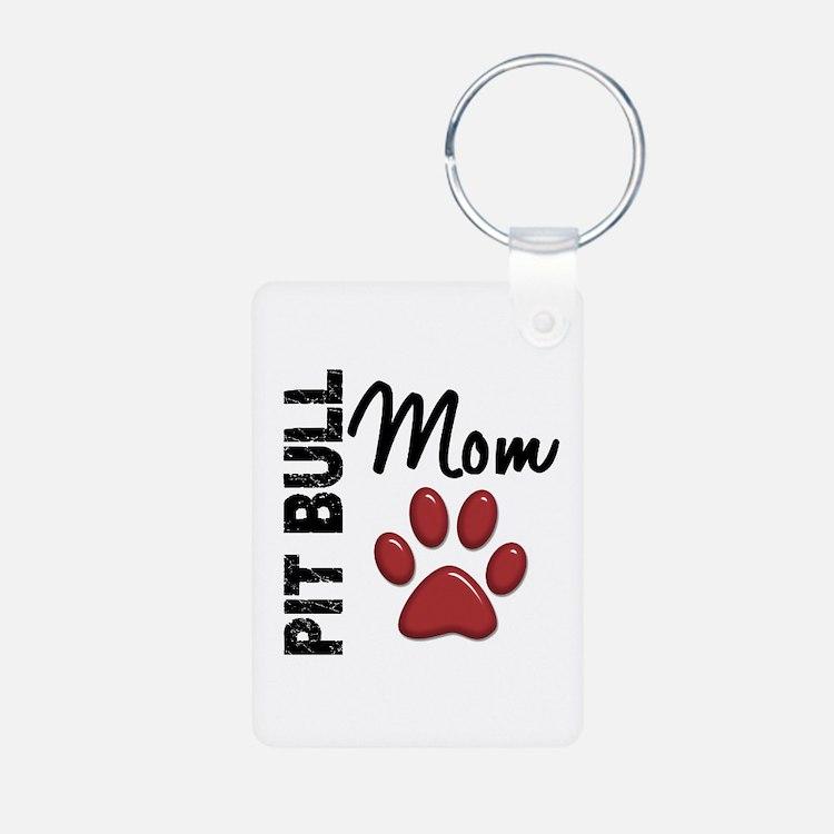 Pit Bull Mom 2 Keychains